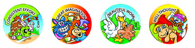 Kids Fairy Tale Merit Stickers