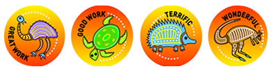 Aboriginal Art Merit Stickers