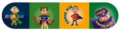 Super Boy Merit Stickers