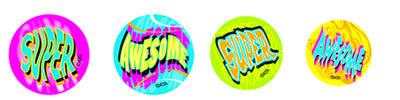 Fluoro Novelty Stickers