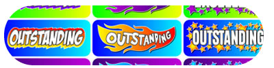 Excellent Outstanding Foil Novelty Stickers
