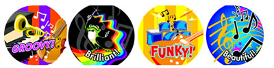 School Stickers for Music